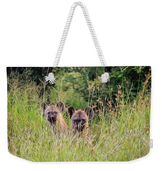 Hide-n-seek Hyenas Weekender Tote Bag