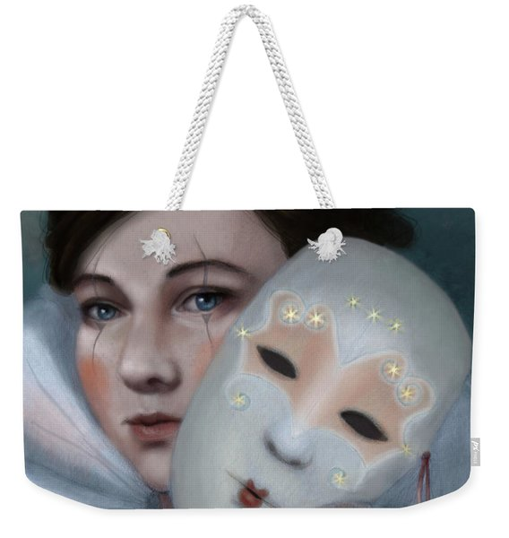 Hiding Behind Masks Weekender Tote Bag
