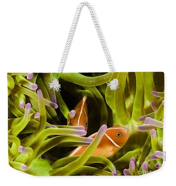 Hiding Clownfish Weekender Tote Bag