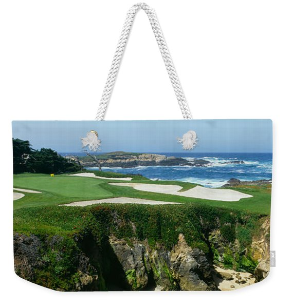 High Angle View Of A Golf Course Weekender Tote Bag