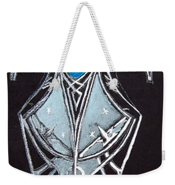 Weekender Tote Bag featuring the painting High Elven Warrior Shield  by Richard Le Page