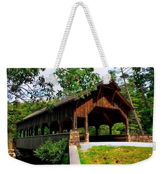 High Falls Covered Bridge Weekender Tote Bag