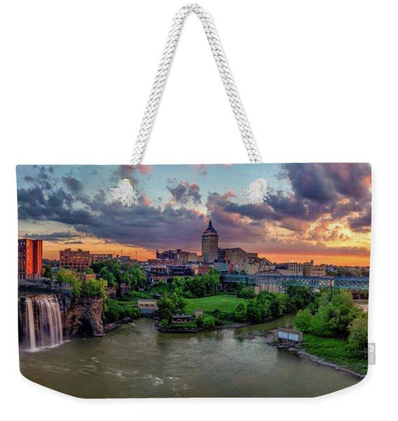 High Falls Panorama Weekender Tote Bag