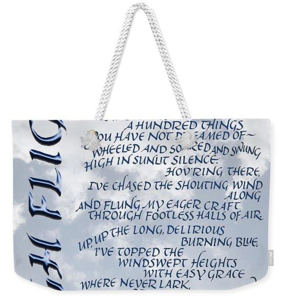 High Flight Weekender Tote Bag