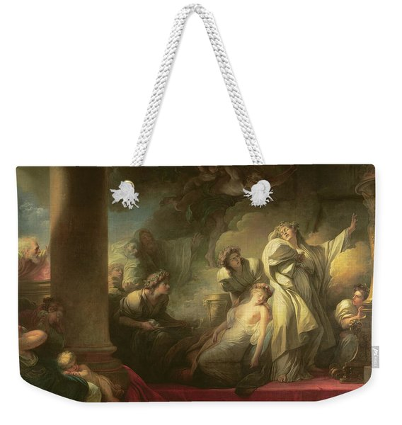 High Priest Coresus Sacrificing Himself To Save Callirhoe Weekender Tote Bag