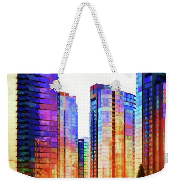 High Rise Abstract Weekender Tote Bag