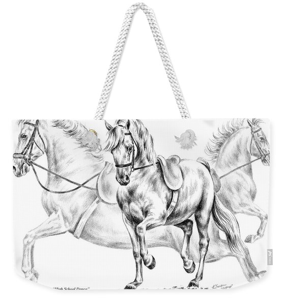 High School Dance - Lipizzan Horse Print Weekender Tote Bag