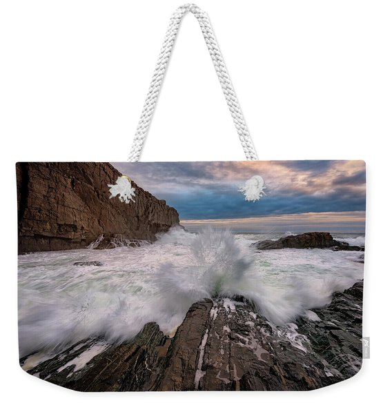 High Tide At Bald Head Cliff Weekender Tote Bag