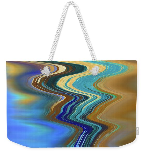 Weekender Tote Bag featuring the digital art High Tide by Gina Harrison