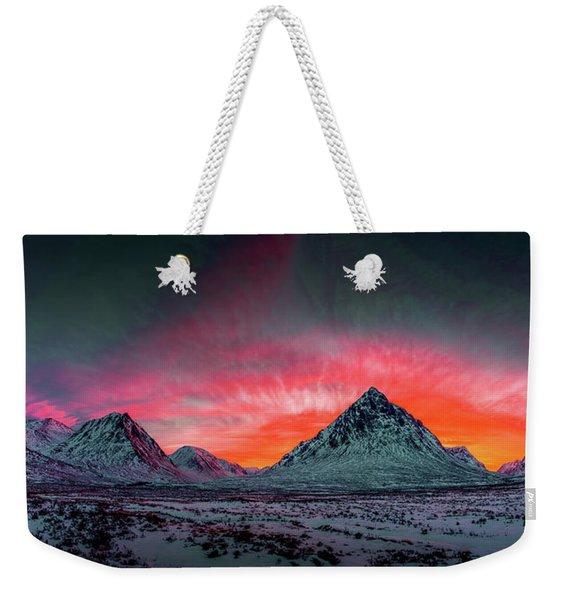 Highland Afterglow Weekender Tote Bag