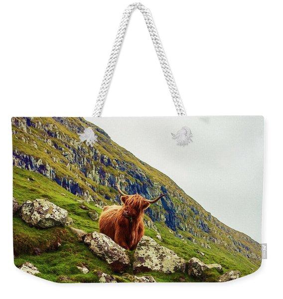 Highland Cow 2 Weekender Tote Bag