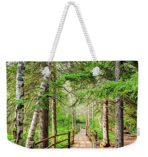 Hiking Trail Weekender Tote Bag