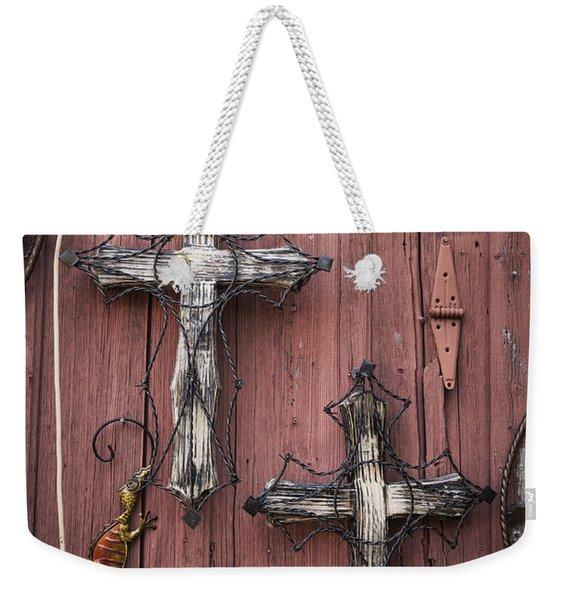 Hill Country Crosses Weekender Tote Bag