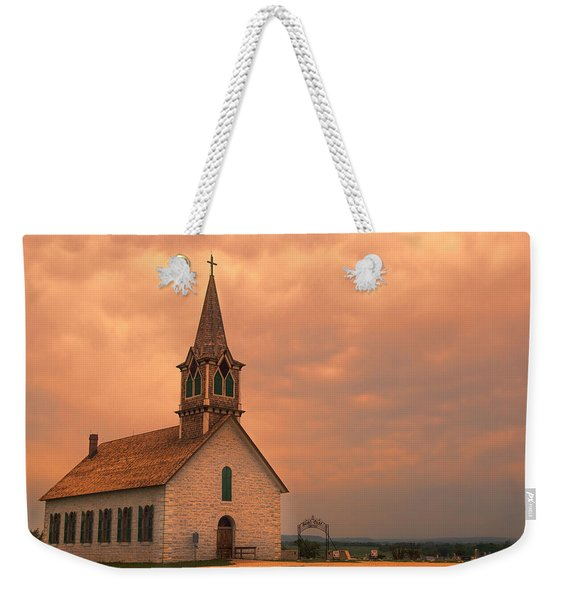 Hill Country Sunset - St Olafs Church Weekender Tote Bag