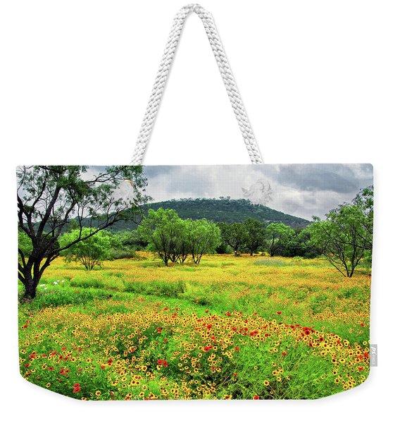 Hill Country Wildflowers Weekender Tote Bag