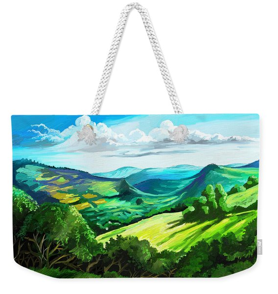 Hills Far Away Weekender Tote Bag