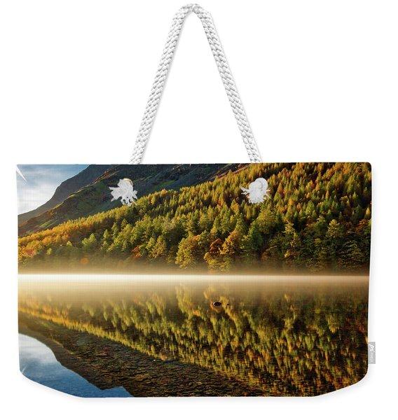 Hills In The Mist Weekender Tote Bag