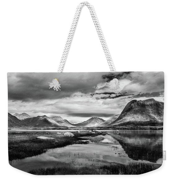 Weekender Tote Bag featuring the photograph Hills Of Vesteralen by Dmytro Korol