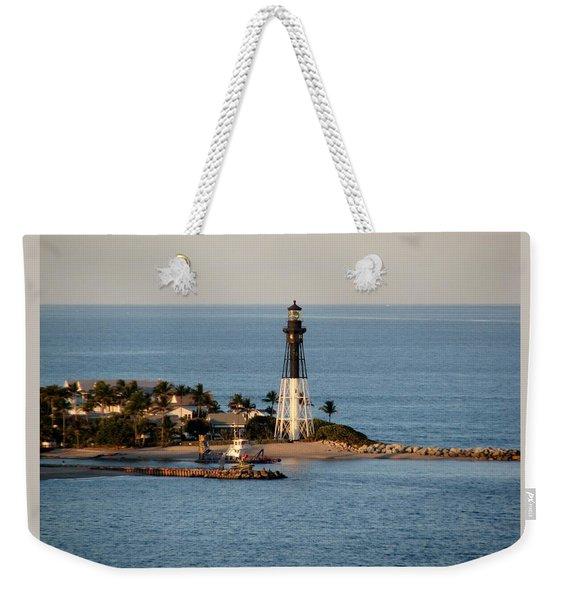 Hillsboro Lighthouse In Florida Weekender Tote Bag