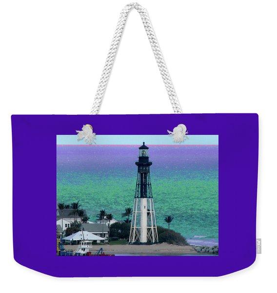 Hillsboro Lighthouse Purple Horizon Weekender Tote Bag