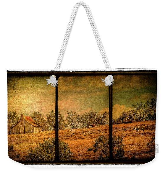 Hillside Farm Scene Triptych Weekender Tote Bag