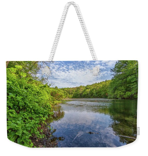 Hillside Pond Milton Massachusetts Weekender Tote Bag