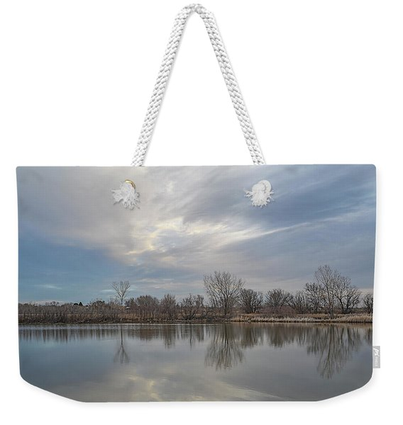 Weekender Tote Bag featuring the photograph Hillside Sky by Scott Cordell