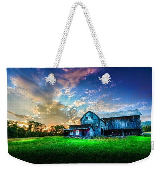 Hillside Sunset Weekender Tote Bag