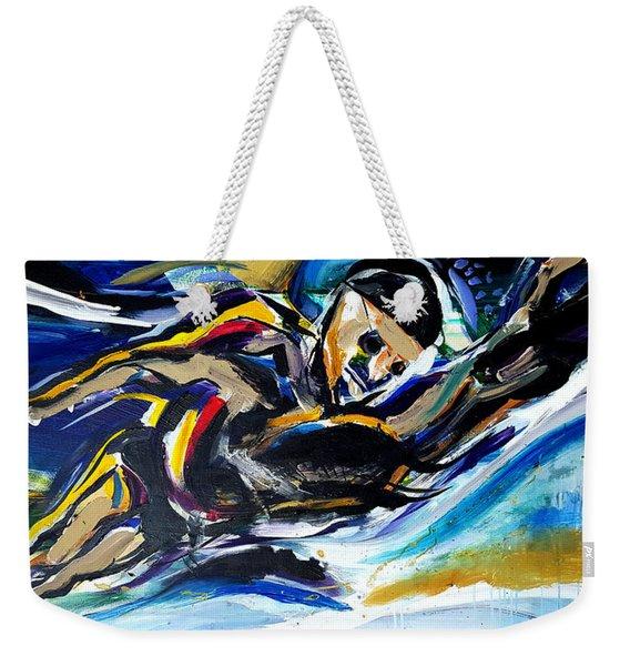 Him Swim Weekender Tote Bag