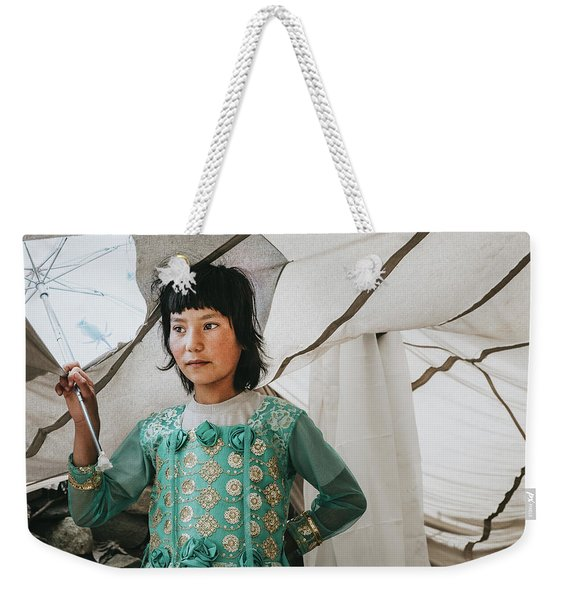 Himalayan Girl Weekender Tote Bag
