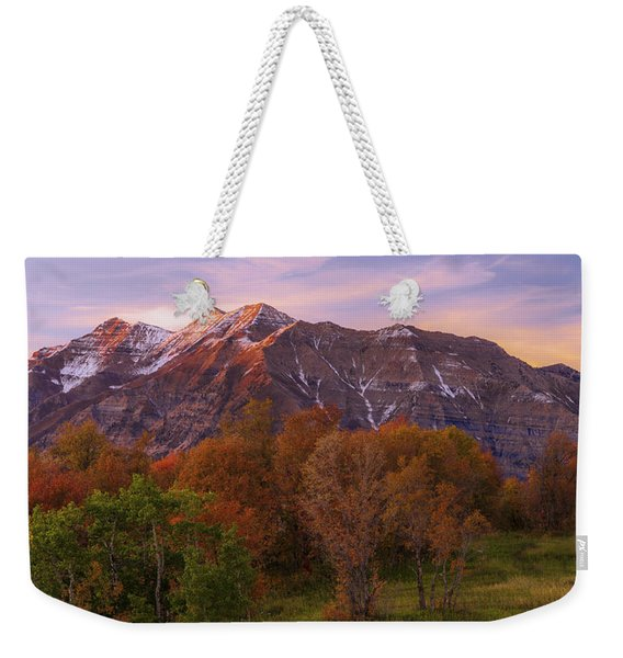 Hint Of Fall Weekender Tote Bag