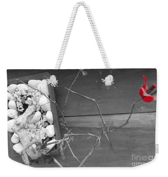 Hints Of Red Weekender Tote Bag