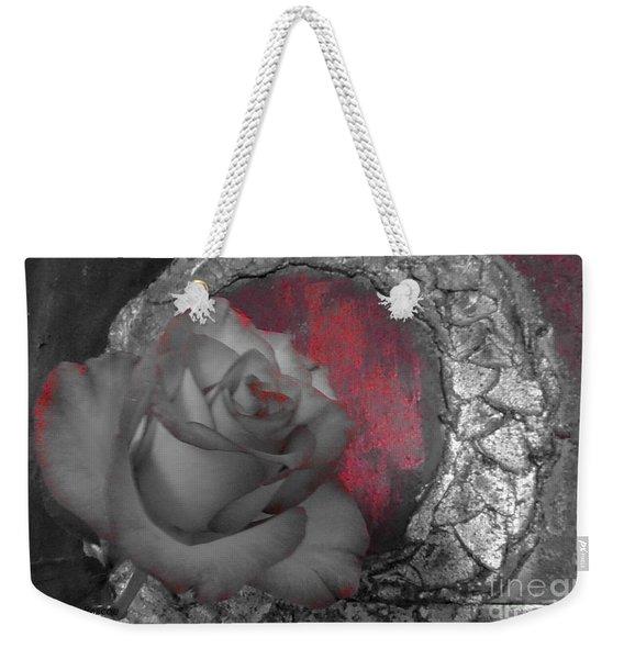 Hints Of Red - Rose Weekender Tote Bag