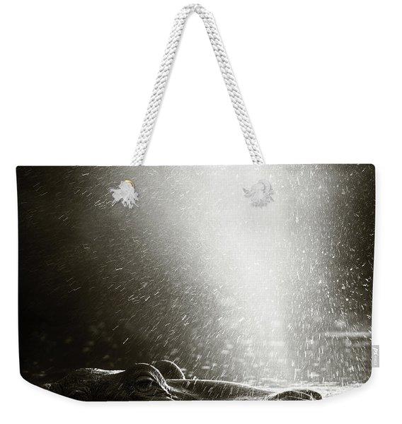 Hippo Blowing  Air Weekender Tote Bag