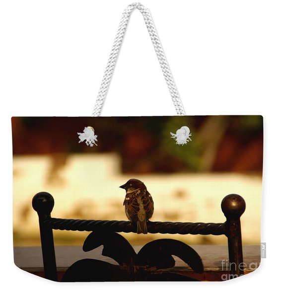 His Eye Is On The Sparrow Weekender Tote Bag
