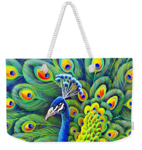 Weekender Tote Bag featuring the painting His Splendor by Nancy Cupp
