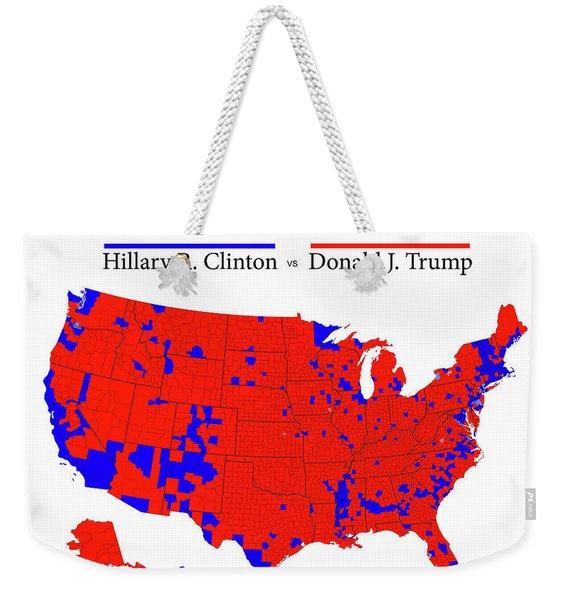 Historic 2016 Presidential Election Map Weekender Tote Bag