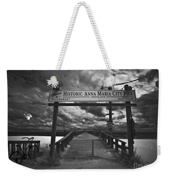 Historic Anna Maria City Pier 9177436 Weekender Tote Bag