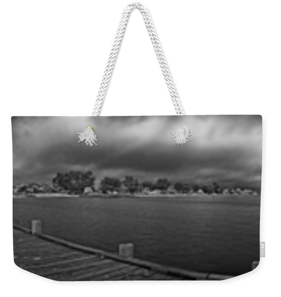 Historic Anna Maria City Pier In Infrared Weekender Tote Bag