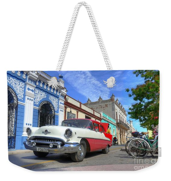 Historic Camaguey Cuba Prints The Cars Weekender Tote Bag
