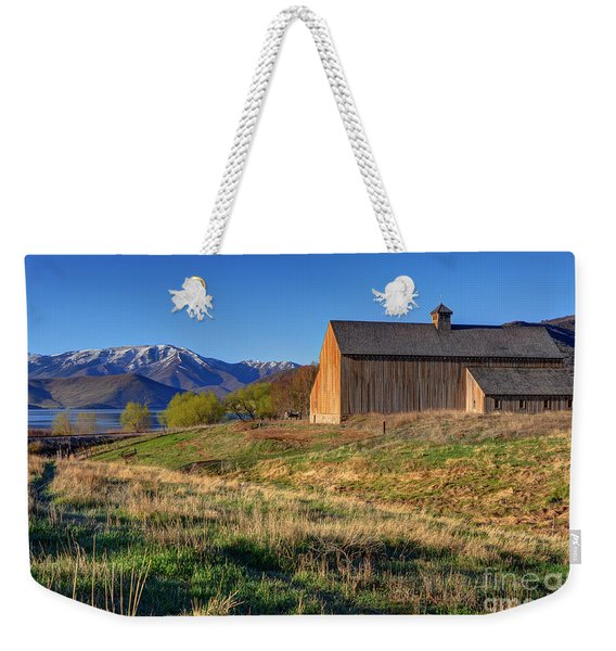Historic Francis Tate Barn - Wasatch Mountains Weekender Tote Bag