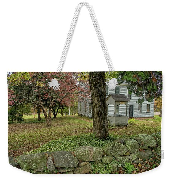 Weekender Tote Bag featuring the photograph Historic Homestead by Nancy De Flon
