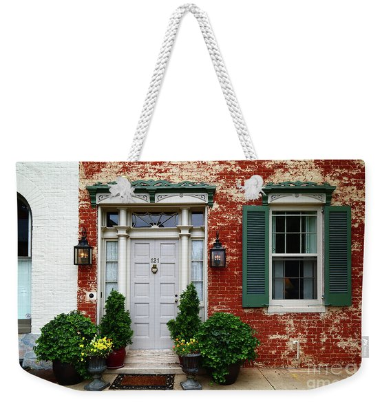 Historic House In Frederick Maryland Weekender Tote Bag