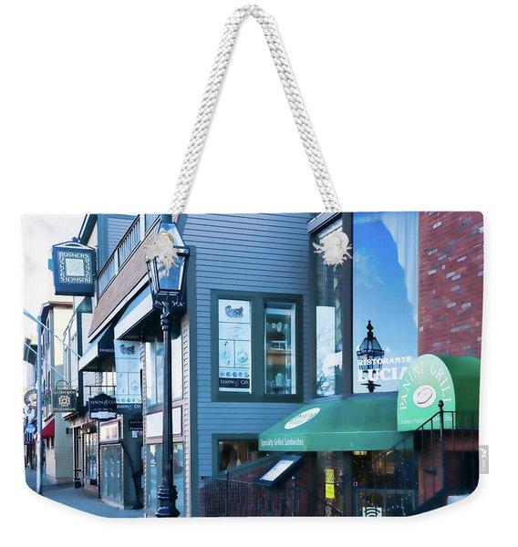 Weekender Tote Bag featuring the photograph Historic Newport Buildings by Nancy De Flon