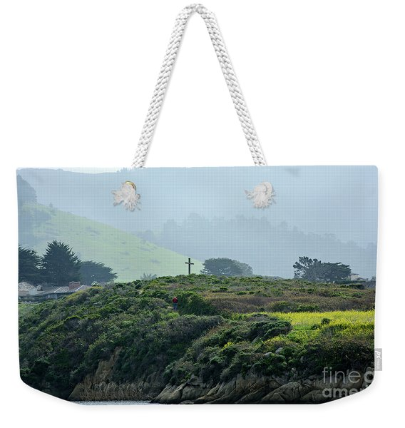 Historic Portola Cross In Carmel Weekender Tote Bag