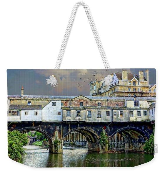 Historic Pulteney Bridge Weekender Tote Bag