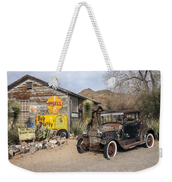 Historic Route 66 - Old Car And Shed Weekender Tote Bag