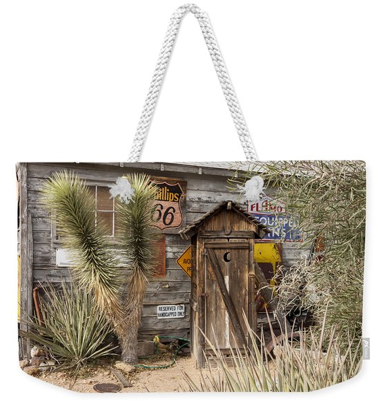 Historic Route 66 - Outhouse 2 Weekender Tote Bag