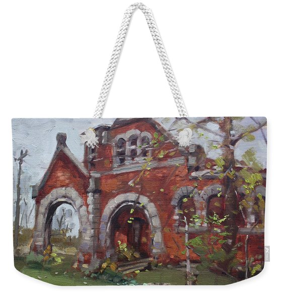 Historic Union Street Train Station In Lockport Weekender Tote Bag