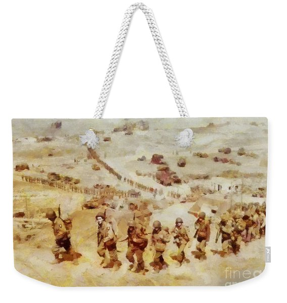 History In Color. D Day, Omaha Beach, Wwii Weekender Tote Bag